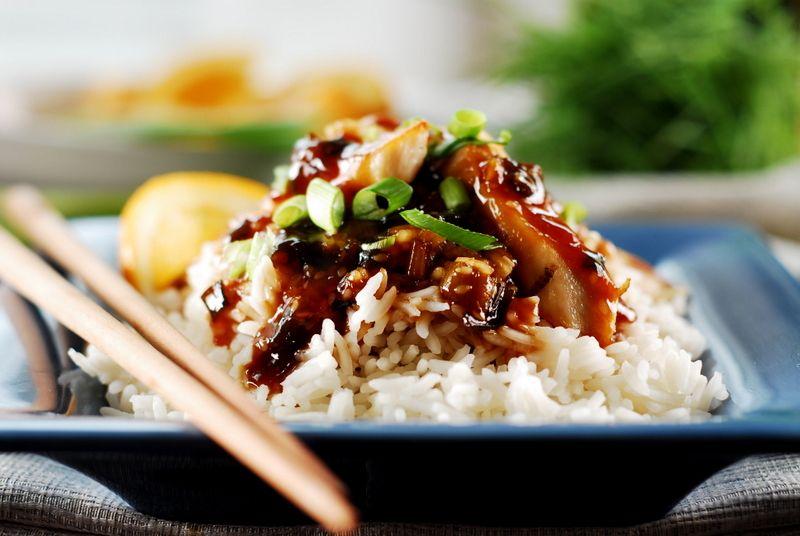 Chicken yakatori dinner jasmine rice asian recipes