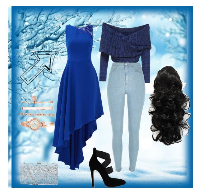 """""""Snowy fever"""" by natalie-sanchez-i on Polyvore featuring Halston Heritage, River Island and Anne Klein"""