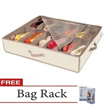 Buy Shoe Under Organizer With Free Bag Rack Online At Lazada