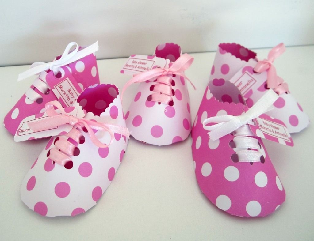 Ideas Para Un Baby Shower Recuerdos Zapatos Cartulina.