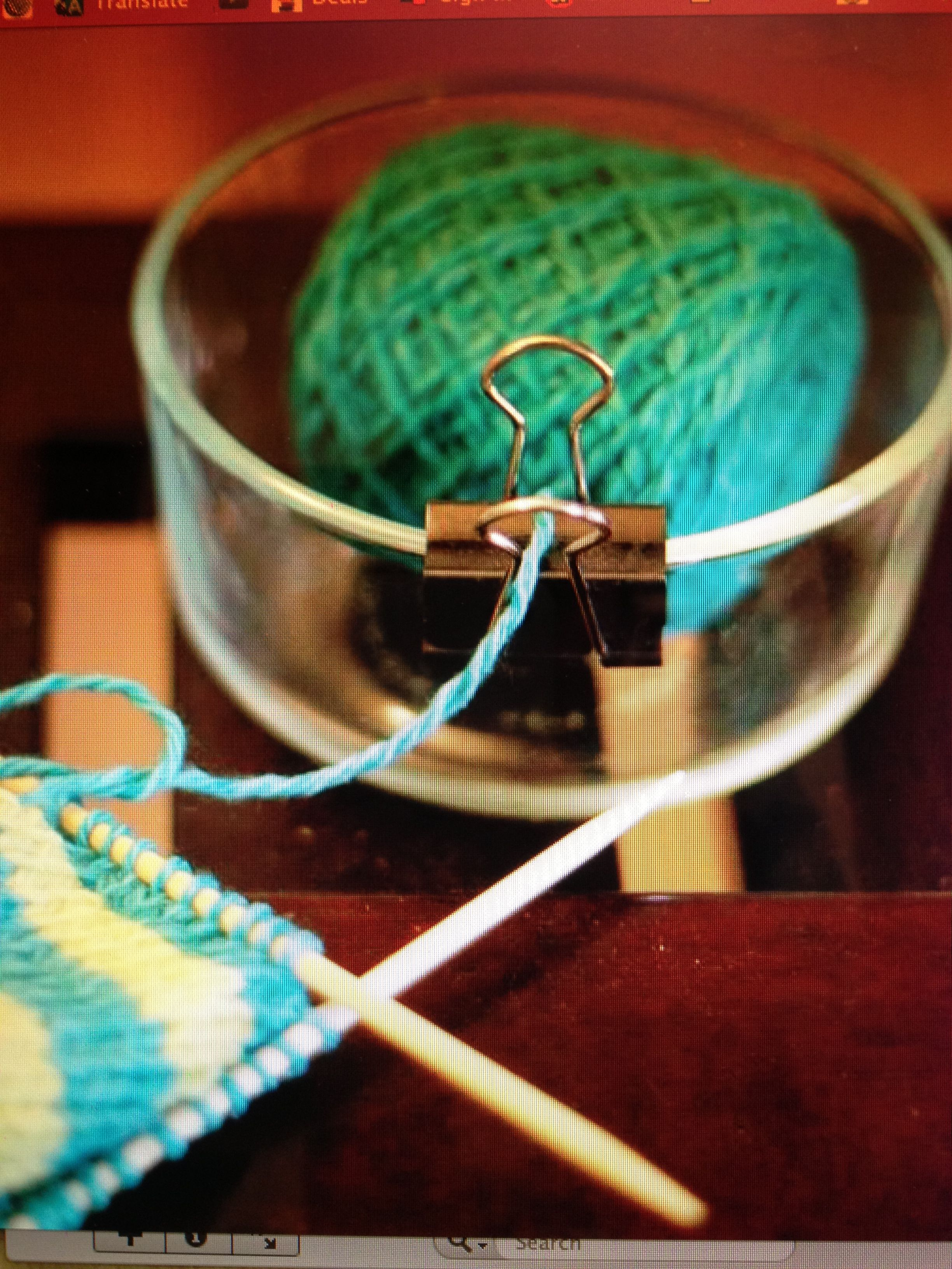 Diy yarn holder pinch the silver clips to pop them out so