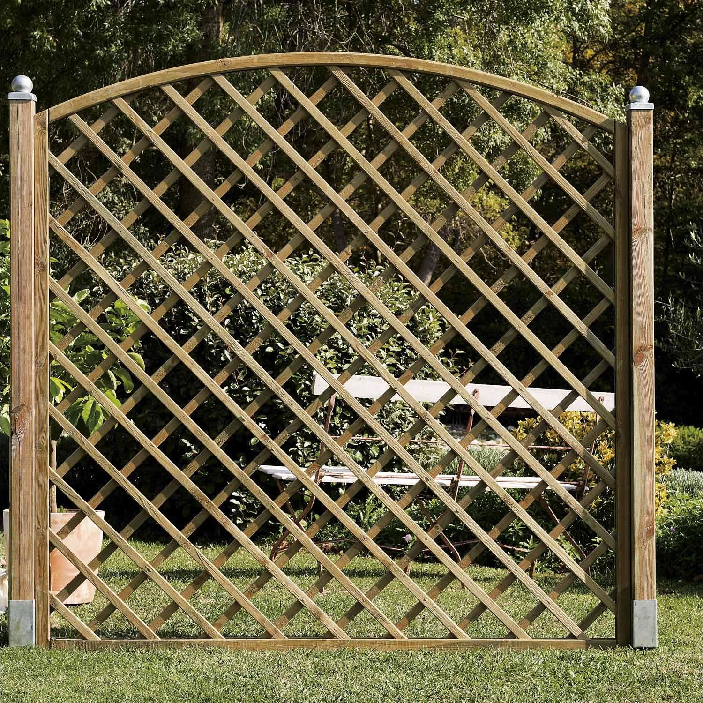 Panneau Treillis Bois Ajoure Sonato L 180 Cm X H 180 Cm Naturel Treillis Bois Panneau Treillis Treillis