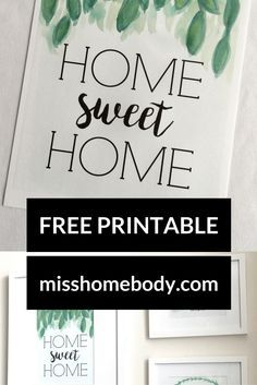 image relating to Free Printables for Home known as Dwelling Cute Dwelling - No cost Printable! Property Printable Farmhouse