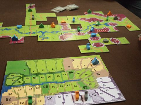 Carcassonne with 8bit RPG theme.