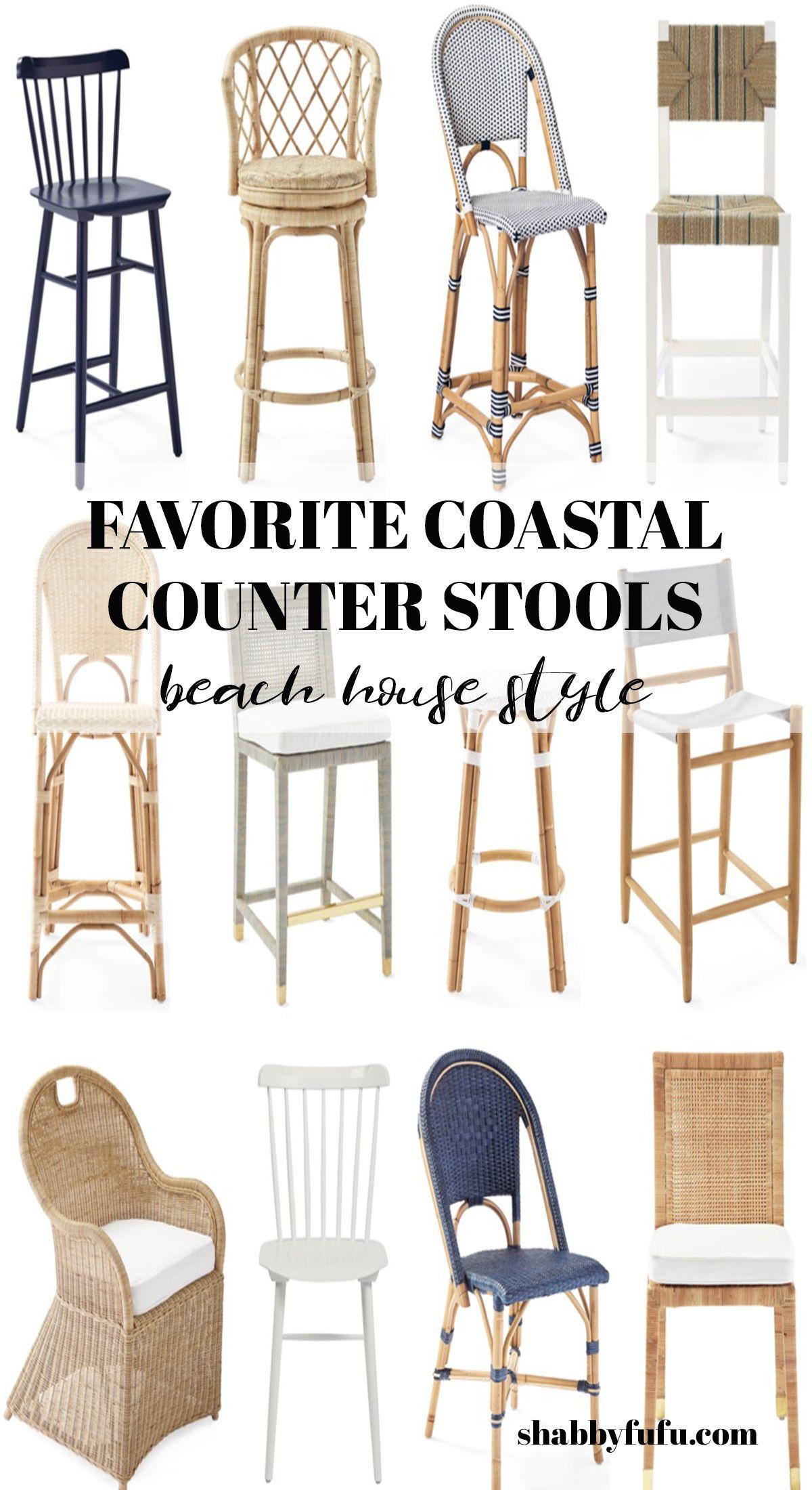 Coastal Decorating Favorites New Counter Stools Counter Stools Decor Affordable Home Decor