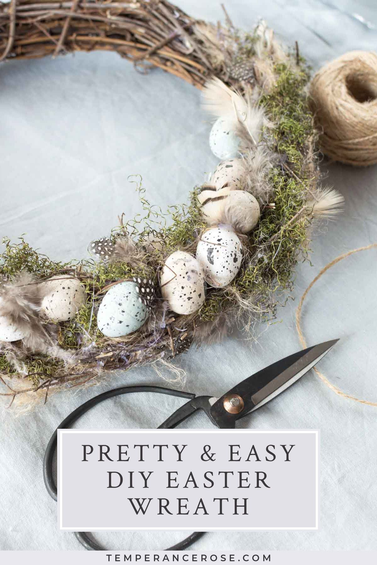 Photo of Natural DIY Easter wreath with speckled eggs#easter#decoration