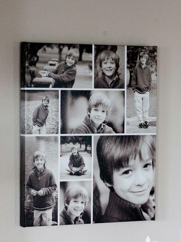 100 Fotocollagen erstellen  Fotos auf Leinwand selber