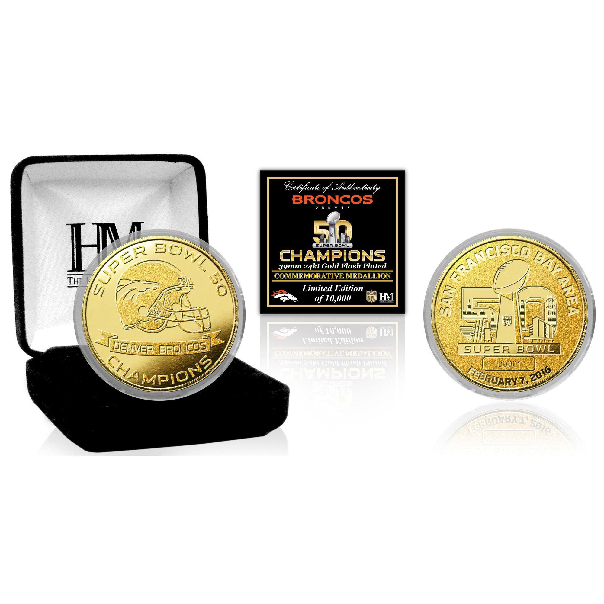 Highland Mint Denver Broncos Super Bowl 50 Champions Gold