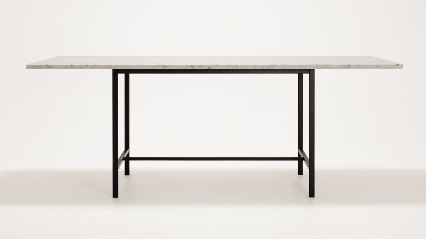 """Kendall Custom Dining Table  82""""  Marble Top  Eq3 Modern Unique Kendall Dining Room Decorating Design"""