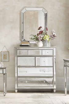 Next Fleur Multi Chest Of Drawers Silver In 2020 Fitted Bedroom Furniture Furniture Collection Mirror Chest Of Drawers