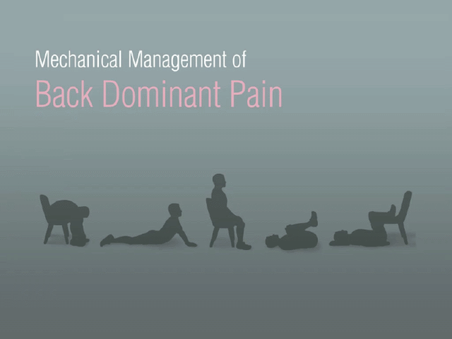 Animation: Mechanical Management of Back Dominant Pain from The Latest in Back Pain Management, an interactive supplement on iPad https://itunes.apple.com/us/app/journal-current-clinical-care/id417514523
