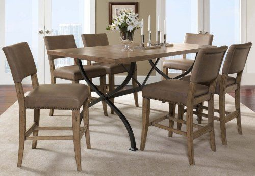 Hillsdale Charleston Rectangle Parsons Counter Dining Set