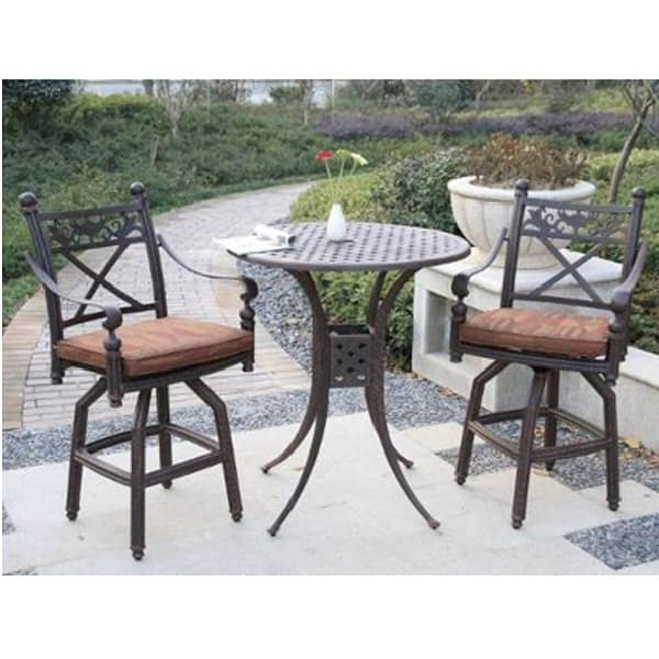Beautiful Bar Height Bistro Patio Set