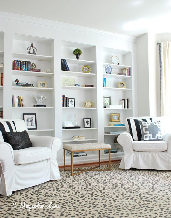 Create The Look Of High End Built In Bookcases On An Empty Wall