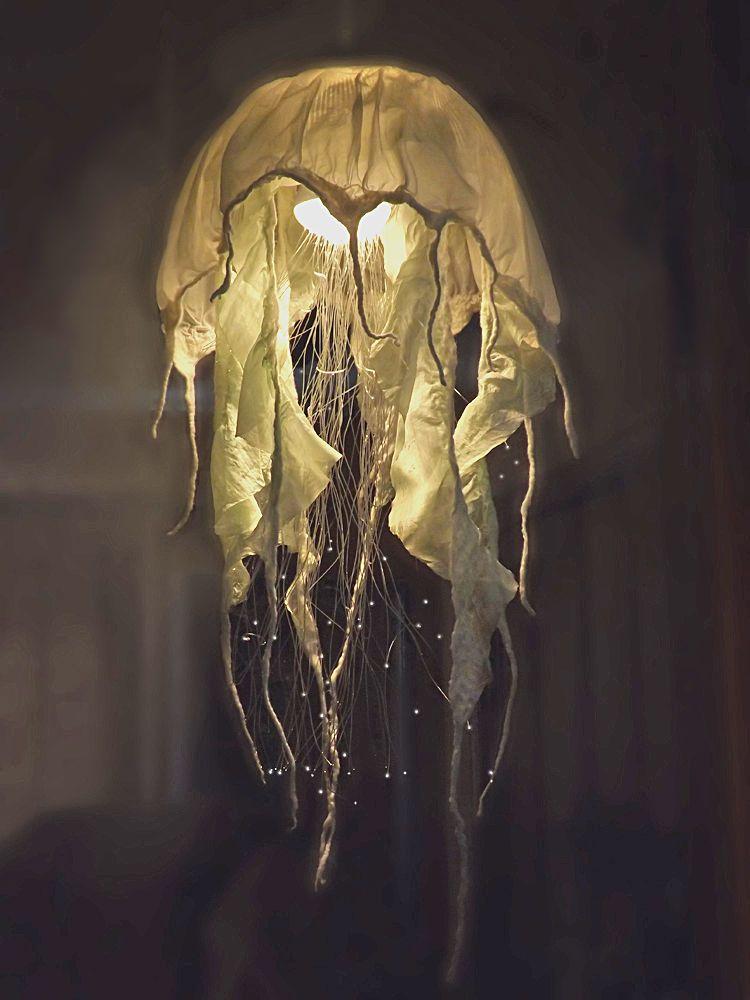 Diy Fiber Optic Jellyfish Chandelier Jellyfish Light Diy Chandelier Jellyfish Lamp