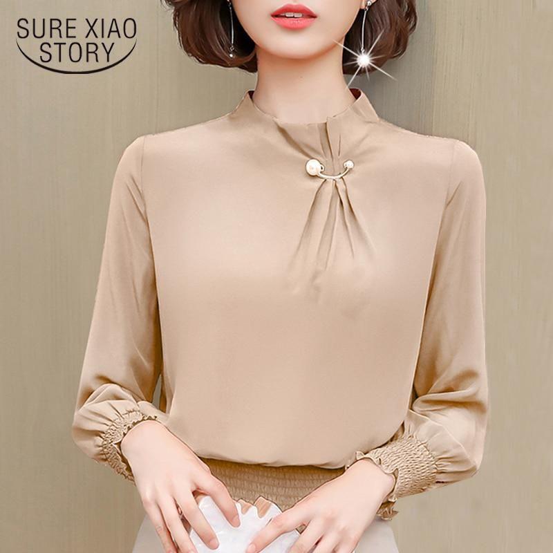 Long Sleeve Office Blouse Women Clothes Chiffon Blouse Women Shirts Blusas Mujer Us 16 45 Blouses For Women Fashion Clothes For Women