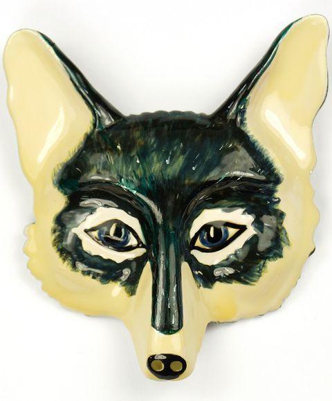 Trifari 'Alfred Philippe' Blue Fox Face Pin