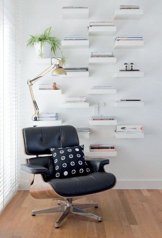 11 Ways To Use Ikea S Lack Shelves In Every Room Of The House Ikea Lack Shelves Floating Shelves Living Room Small Room Design