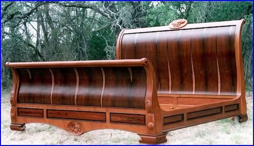 Rustic Furniture · Sleigh Bed By Louis Fry / Craftsman In Wood. A Maker Of  Fine Handmade Furniture