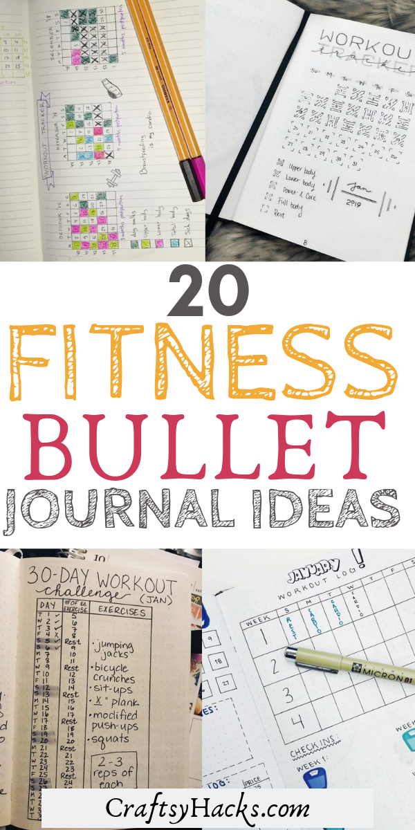 In need of an exercise tracker? Try these workout bullet journal spreads and achieve your fitness go...