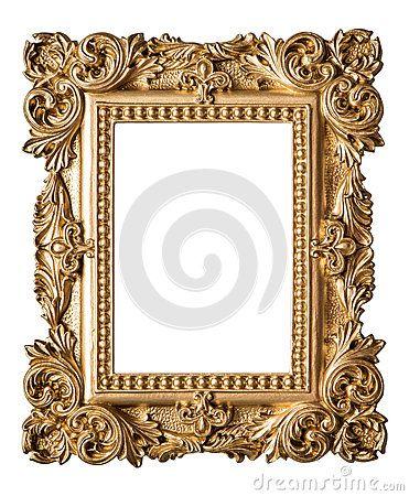 Estilo Barroco Da Moldura Para Retrato Objeto Do Ouro Da Arte Do Vintage Molduras Vintage Molduras Desenho Barroco
