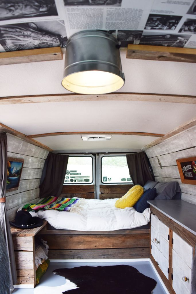 A Customized 70s Inspired Van Life