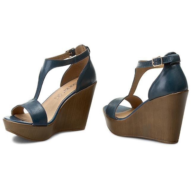 Sandaly Lasocki 1942 07 Niebieski Shoes Fashion Wedges