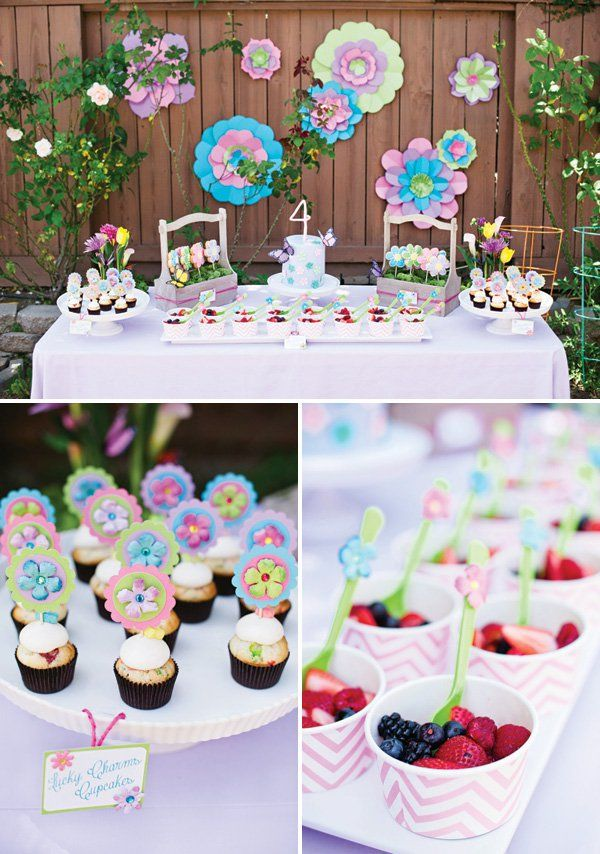 Whimsical Fairy Garden Birthday Party Garden birthday parties
