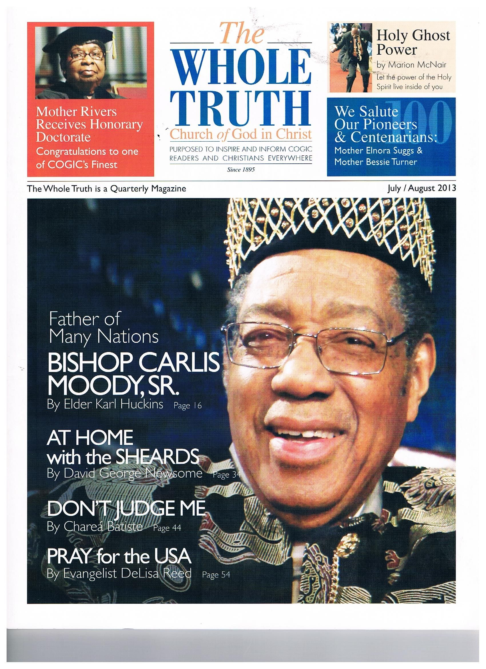 COGIC: The Whole Truth Magazine July/ August 2013 features
