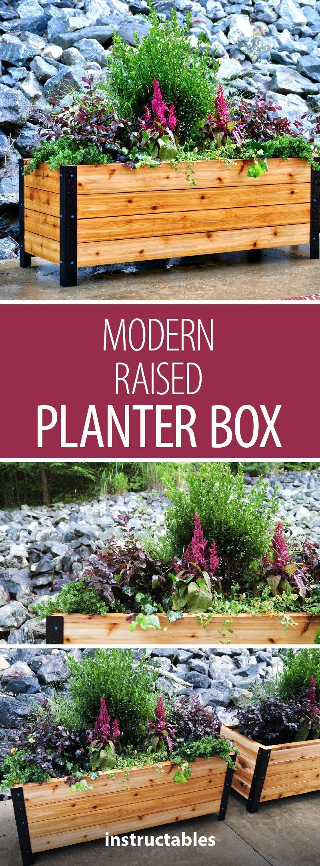 Diy Modern Raised Planter Box How To Build 400 x 300