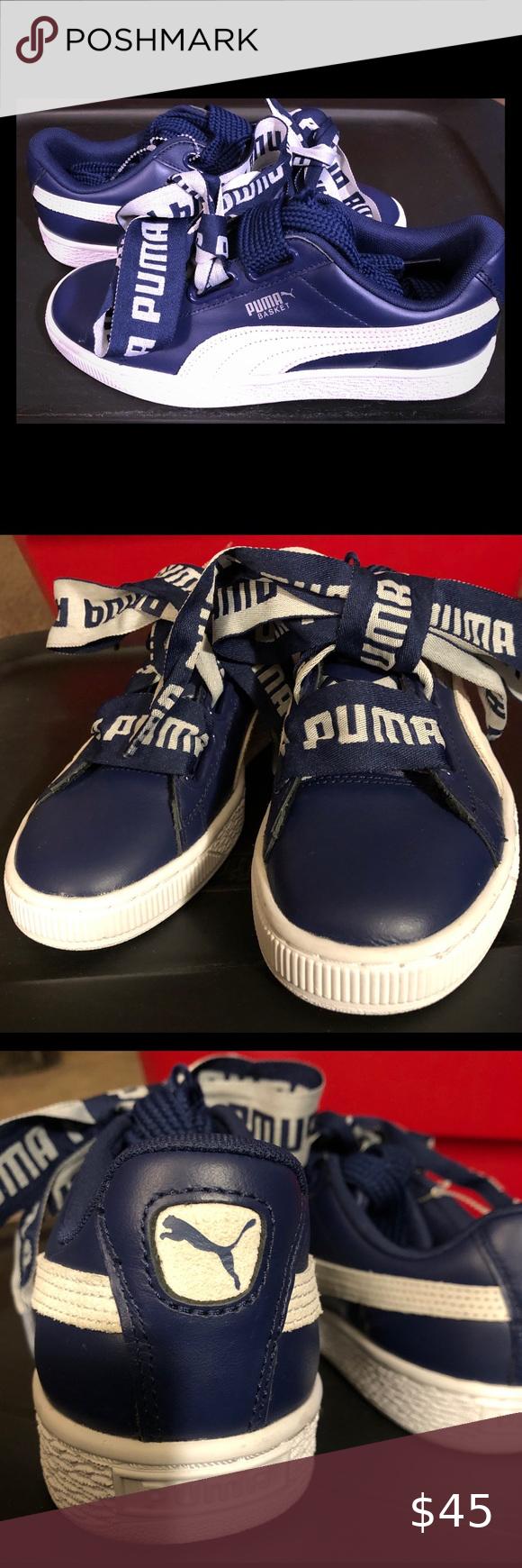 Puma Basket Heart DE Leather Trainer