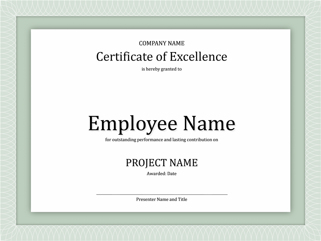 certificate of excellence for employee certificates pinterest
