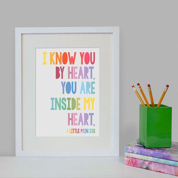 Little Princess Rainbow Quote Print