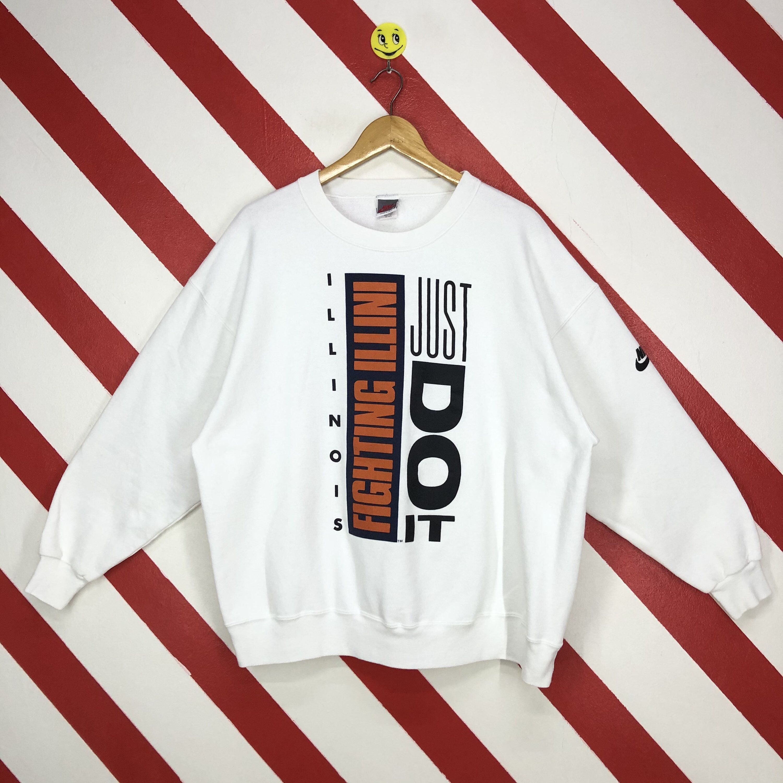 Vintage 90s Nike Illinois Fighting Illini Sweatshirt Nike Etsy Sweatshirts 90s Sportswear Nike Sweatshirts [ 3000 x 3000 Pixel ]