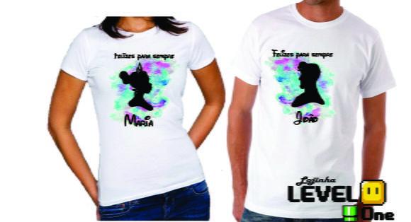 a23a609bba Camisa Casal Felizes Para Sempre