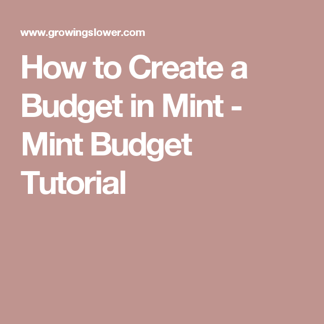 How To Budget With Mint And Stick To It Around The House