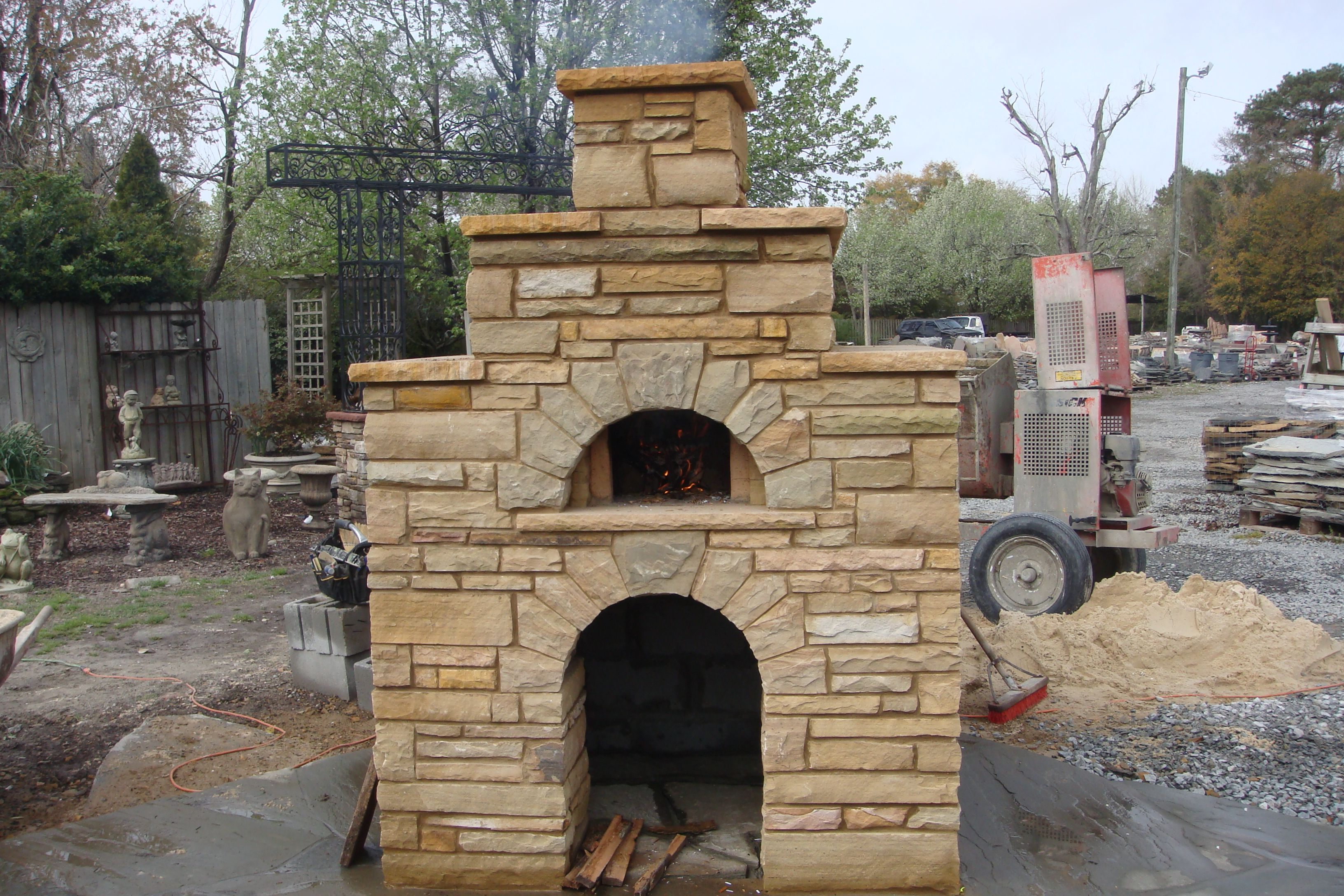 outdoor fireplace with pizza oven kits, diy fireplace bake oven