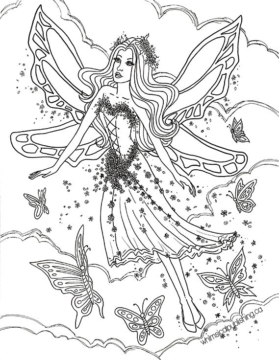 Butterfly Fairy Fairy Coloring Pages Free Adult Coloring Pages
