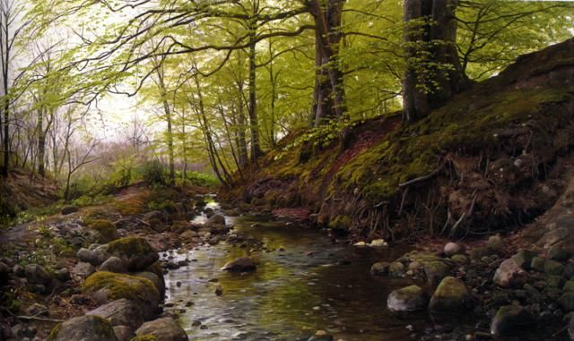 Realistic Landscape Oil Paintings By Peder Monsted Landscape Artist Landscape Painting Artists Landscape