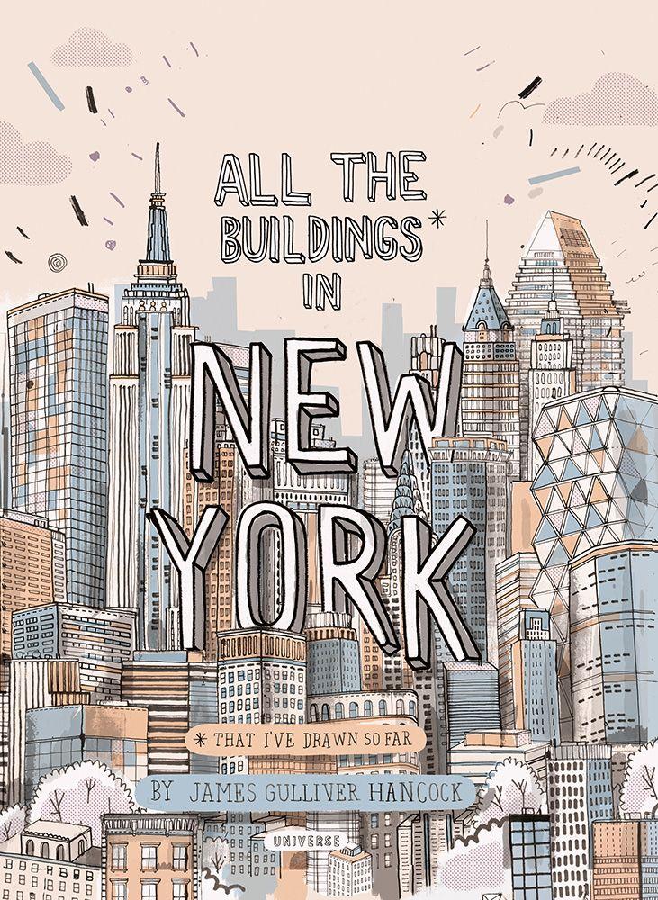 all the buildings in new york ilustracion illustration kunst gem lde y zeichnen. Black Bedroom Furniture Sets. Home Design Ideas
