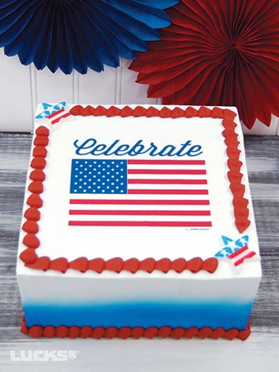 Item Number Celebrateamericaflagcake Buttercream Cake Designs Cake Cake Decorating Supplies