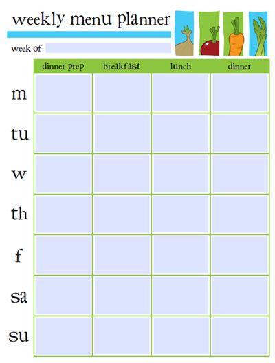 menu plan form muco tadkanews co
