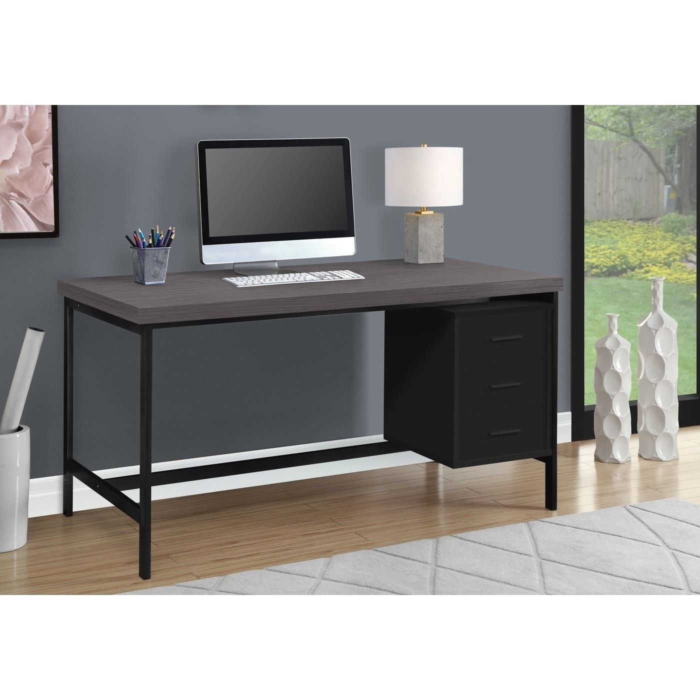Axess Computer Desk With Hutch 106 Union