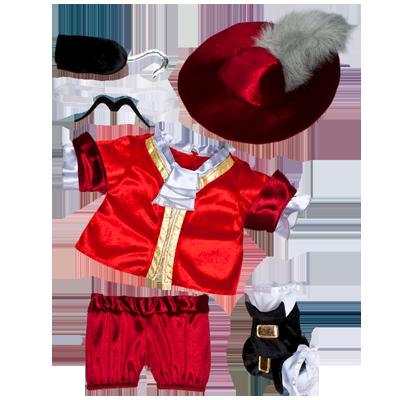 Disney Captain Hook Costume 6 Pc Workshop Clothes Build A Bear Captain Hook Costume
