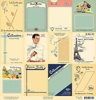 vintage button cards