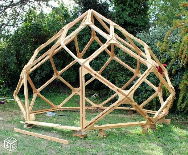 structure zome cabane zome en 2018 pinterest d me g od sique construction bois et serre. Black Bedroom Furniture Sets. Home Design Ideas