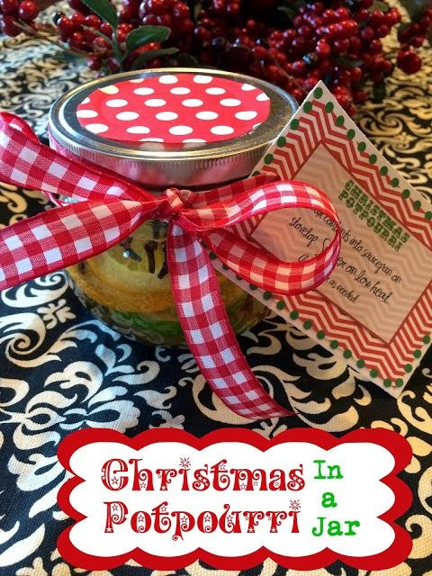 Christmas Neighbor Gifts Potpourri in a Jar From Marci Coombs Blog