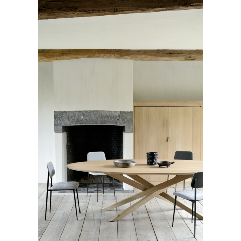 Table Ovale Mikado D Ethnicraft Chene Table A Manger En Chene