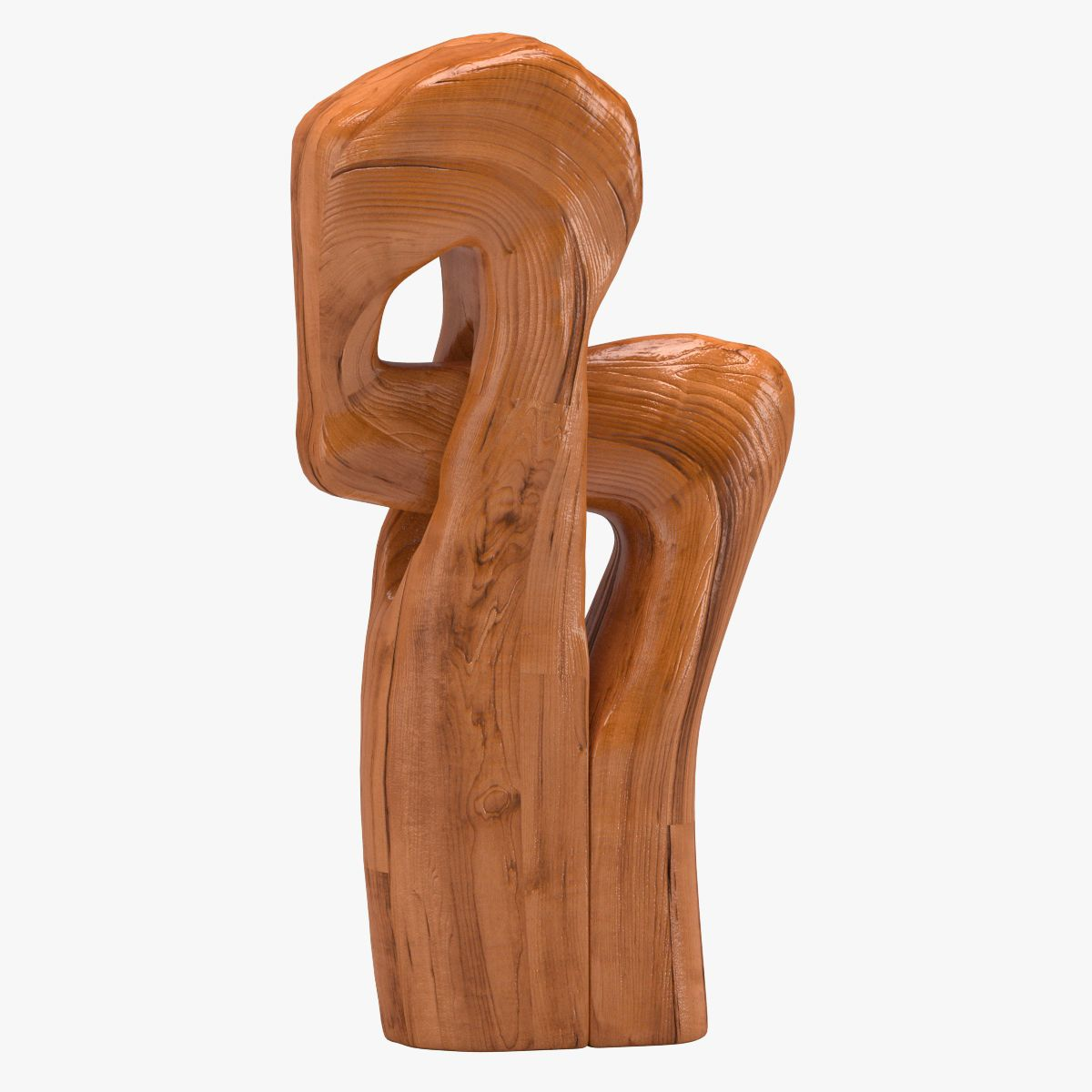 Oaken wooden figure sculpture d model in d household
