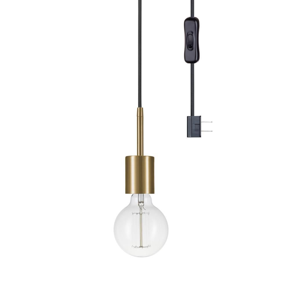 Globe Electric Leila 1 Light Brass Pendant 65980 The Home Depot In 2020 Plug In Pendant Light Globe Electric Linear Pendant Lighting